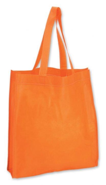 shopper arancio soffietto