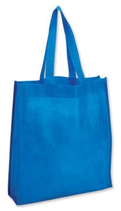 shopper azzurro soffietto